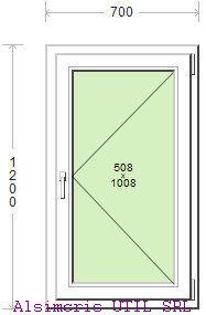 Termopan 70 / 120 cm - Deschidere simpla