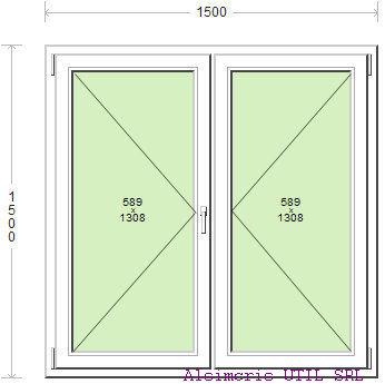 Termopan 150 / 150 cm - 2 deschideri simple