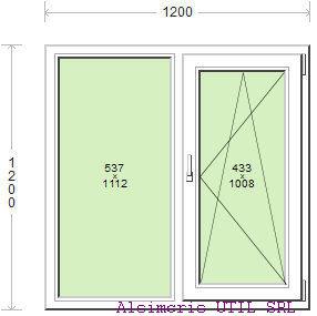 Termopan 120 / 120cm - 1 deschidere dubla