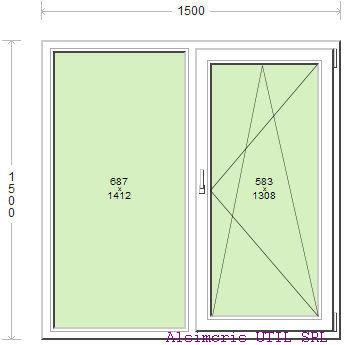 Termopan 150 / 150 cm - 1 deschidere dubla