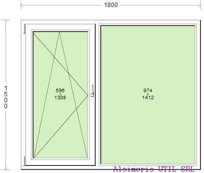 Termopan 180 / 150 cm - 1 deschidere dubla