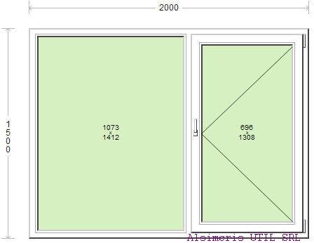 Termopan 200 / 150 cm - 1 deschidere simpla