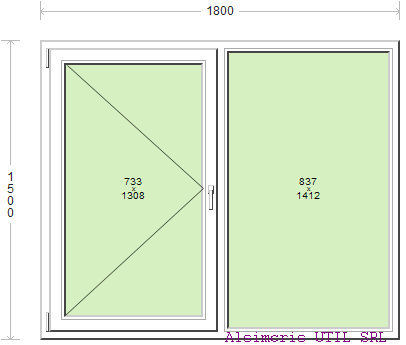 Termopan 180 / 150 cm - 1 deschidere simpla