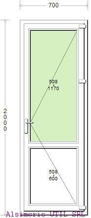 Usa Balcon 70 / 200 cm si panel