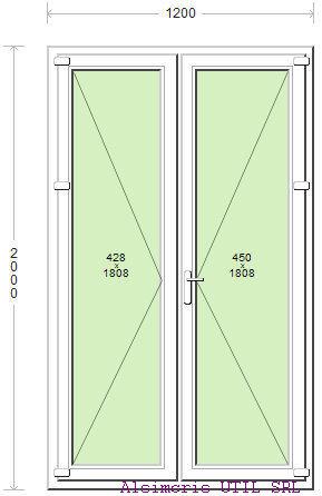 Ansamblu Usa Balcon 120 / 200 cm